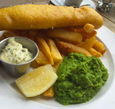 Fish and chip supper Stock Images