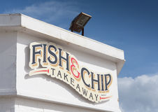 Fish and Chip takeaway shop sign. Stock Photography