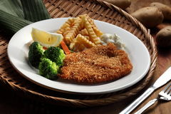 Fish and Chips. Deep fried fish and chips Royalty Free Stock Photo