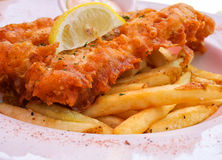 Fish and Chips Royalty Free Stock Images