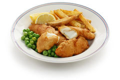 Fish and chips, british food Royalty Free Stock Images
