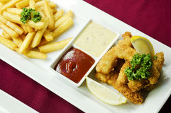 Fish and chips classic british food Stock Photography