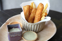 Fish and chips Stock Photos