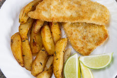Fish and chips closeup Royalty Free Stock Photos