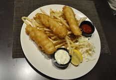 Fish and chips dish from Washington District Of Columbia USA Royalty Free Stock Photo