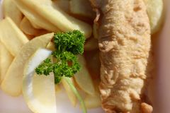 Close up of Fish and Chips royalty free stock images