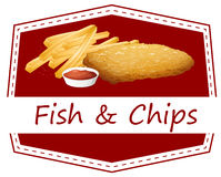 Fish and Chips. Illustration of fish and chips Stock Images