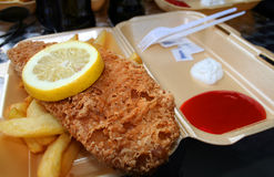 Fish and chips in London. This is fast food: fish and chips in London Stock Photo