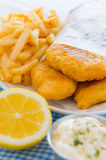 Fish and chips meal Stock Images