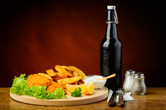 Fish and chips meal Stock Photos