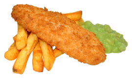 Fish And Chips With Mushy Peas Royalty Free Stock Image