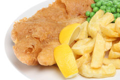 Fish, Chips and Peas Stock Photography