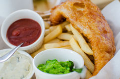 Fish and chips set Royalty Free Stock Images