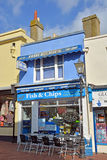 Fish & Chips Shop and Restaurant in Brighton, UK. Royalty Free Stock Images