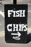 Fish and chips sign Stock Photography