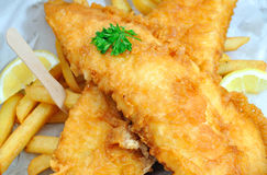 Fish and chips takeaway Stock Image