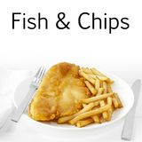 Fish and Chips on White Royalty Free Stock Photo
