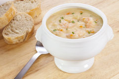 Fish Chowder with Prawns Royalty Free Stock Photo