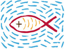 Fish Christian religious symbol Royalty Free Stock Photography