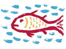 Fish Christian religious symbol Royalty Free Stock Photos