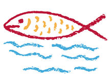 Fish Christian religious symbol. Illustration of a fish, an ancient Christian symbol Royalty Free Stock Photos