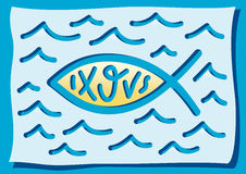 Fish, a Christian symbol. Illustration of a Christian religious symbol Royalty Free Stock Images