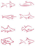 Fish clip art Royalty Free Stock Photography