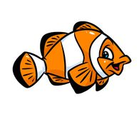 Fish clown cartoon illustration Royalty Free Stock Photo