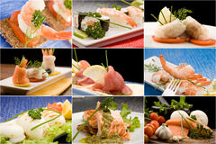 Fish Collage Royalty Free Stock Image