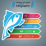 Fish color infographic with paper arrows Stock Image