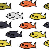 Fish colorful pattern. Vector background illustration  Retro Seamless Pattern Royalty Free Stock Photos