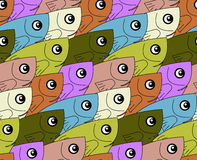 Fish colorful pattern. Vector seamless patterns can be used for wallpaper pattern fills and background Stock Image