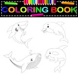 Fish coloring book. Illustration of fish coloring book Stock Photos