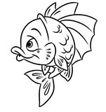 Fish coloring page Stock Image