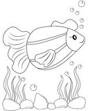 Fish coloring page. Useful as coloring book for kids Royalty Free Stock Photo