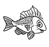 Fish Coloring Pages Royalty Free Stock Photo