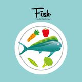 Fish concept design. Illustration eps10 graphic Stock Photography