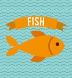 Fish concept design. Illustration eps10 graphic Royalty Free Stock Image
