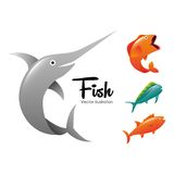 Fish concept design. Illustration eps10 graphic Royalty Free Stock Images