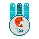 Fish concept design. Illustration eps10 graphic Royalty Free Stock Photography