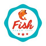 Fish concept design. Illustration eps10 graphic Stock Image