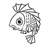 Fish contour coloring page Stock Image