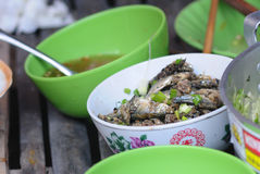 Fish cooked with fish sauce Stock Image