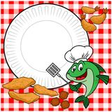 Fish Cookout. A vector illustration of a Fish Cookout Royalty Free Stock Photos
