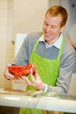 Fish Counter with Lobster Stock Photography
