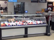 Fish counter in a superstore. Royalty Free Stock Images