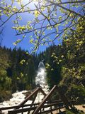 Fish Creek Falls. In Routt National Forest near Steamboat Springs Royalty Free Stock Image