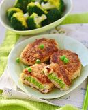 Fish croquette with green pea Royalty Free Stock Photo