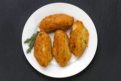 Fish croquettes on plate Royalty Free Stock Photo