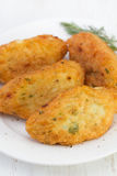 Fish croquettes royalty free stock photography